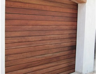 Single Meranti Sectional Door (Broad Slats 140MM)