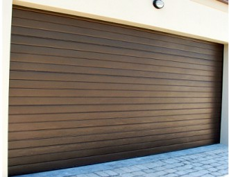 Double Aluzinc Sectional (Horizontal Brown) & Aluzinc Garage Doors | Sa Garage Doors
