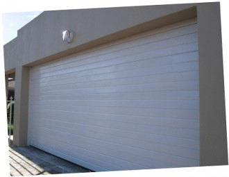 garage doors.  Garage Double Aluzinc Sectional Horizontal White On Garage Doors